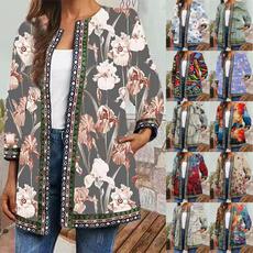 Jacket, Plus Size, floraljacket, tribalprintjacket