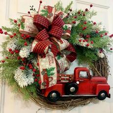 checkered, Door, Christmas, christmaswreath