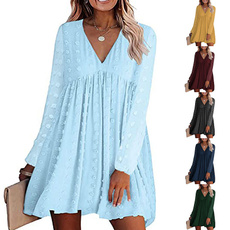 Swing dress, Plus Size, solidcolordre, short dress