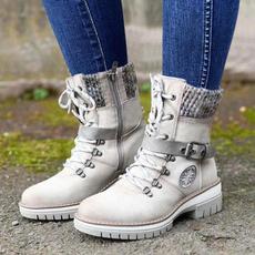 ankle boots, fashion women, Plus Size, Winter