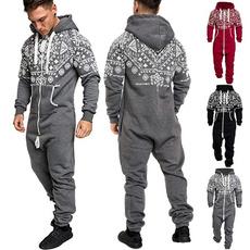 hoodedjumpsuit, Fleece, hooded, Christmas