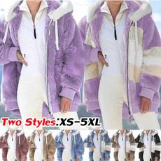 Casual Jackets, Plus Size, fur, Invierno