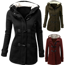 hooded, women coat, Long Coat, Coat