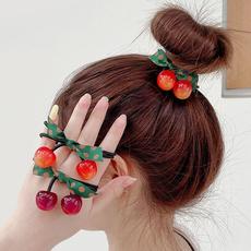 hairdecoration, elastichairring, Elastic, Cherry