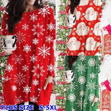 christmasclothing, Plus Size, Long Sleeve, printtop