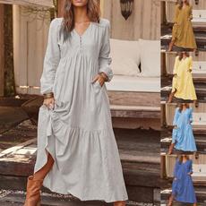 Swing dress, Plus Size, pleated dress, Necks