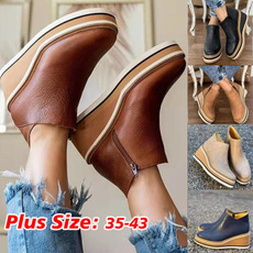 wedge, short boots, winter fashion, Ladies