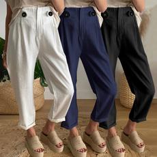 Women Pants, harem, elastic waist, cottonpant