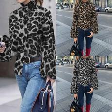 Plus Size, autumnblouse, leopard print, blusasfeminina