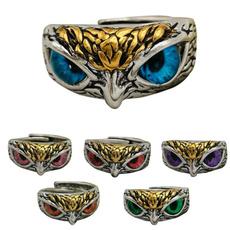Owl, owlringsforwomen, Fashion, gold