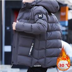 Thicken, hooded, Winter, Coat