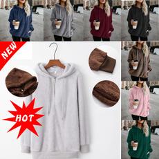 women pullover, Plus Size, Fleece, hooded