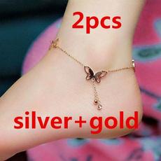 butterfly, silveranklet, Sandals, ankletsforwomen