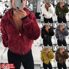 fur coat, womenswintercoat, plushjacket, sweater coat