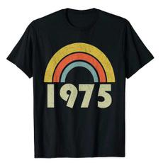rainbow, summerfashiontshirt, Vintage, roundnecktop