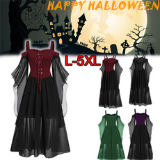 Goth, womens dresses, Cosplay, Lace