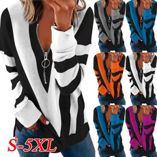Plus Size, Long Sleeve, womens top, V-neck