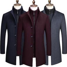 Casual Jackets, Fleece, Fashion, trenchcoatformen