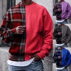 Plus Size, Long Sleeve, winter fashion, plaidtop