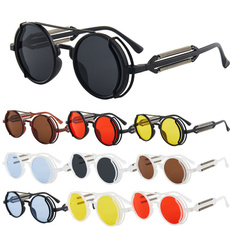 Goth, Fashion, Classics, Round Sunglasses