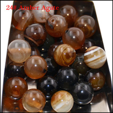 amber, 8MM, Stone, 10bead