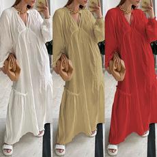 Cotton, dressesforwomen, tunic, Necks