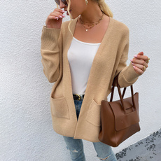 overcoatouterwear, Stand Collar, cardigan, woolencloth