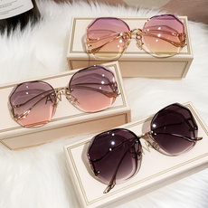 Outdoor Sunglasses, Tea, Metal, Women's Fashion