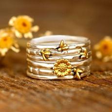 cute, Flowers, Jewelry, gold