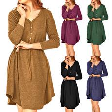 dressesforwomen, Long Sleeve Dresses, waistdresse, Trend