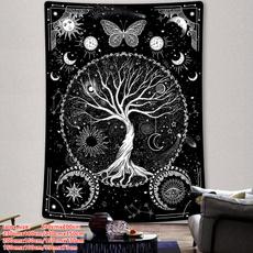 treetapestry, Wall Art, mandalatapestry, skulltapetry