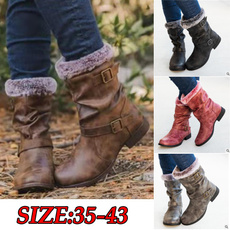woolen, Fashion, Leather Boots, Winter