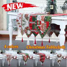 Tassels, Christmas, tablerunner, Santa Claus