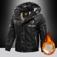 Jacket, Plus Size, Winter, fur collar