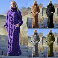winterwarmcoatforwomen, Plus Size, Long Sleeve, Dress