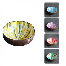 decoration, smoothiebowl, handpainted, coconutbowl