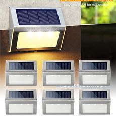 Steel, solarsteplight, Outdoor, led